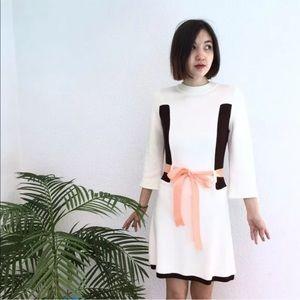 ALICE + OLIVIA Knit Color Block Sweater Dress L
